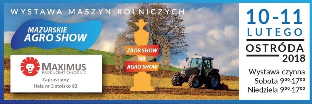 Zaproszenie na Mazurskie Agro Show Ostróda 2018
